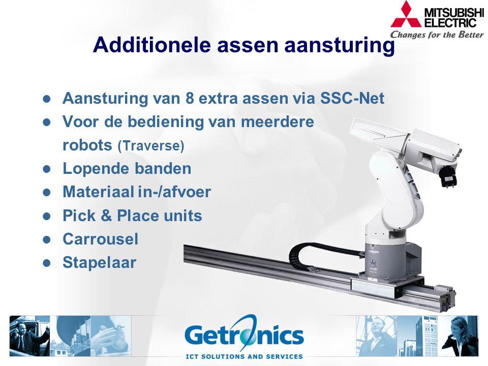Additionele assen aansturing