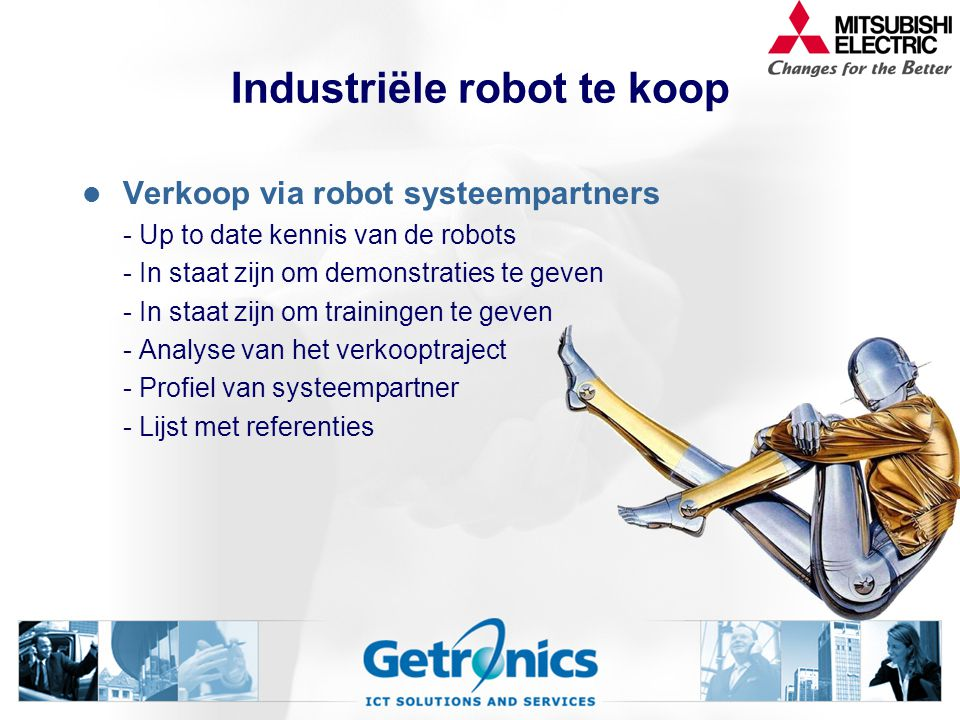 Industriële robot te koop