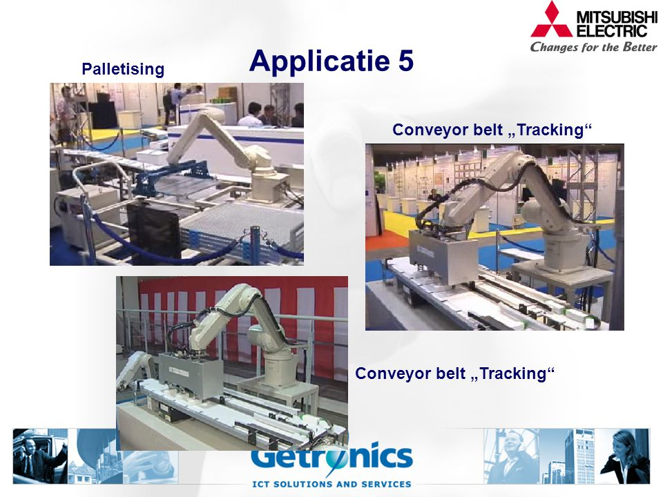 "Applicatie 5 Palletising Conveyor belt ""Tracking"