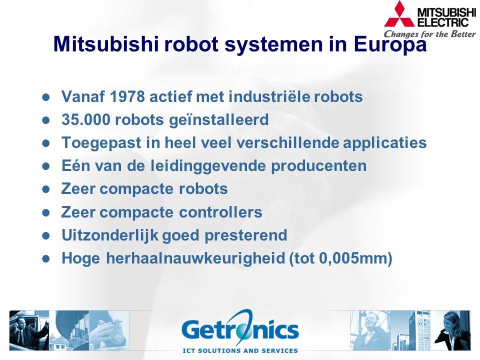 Mitsubishi robot systemen in Europa