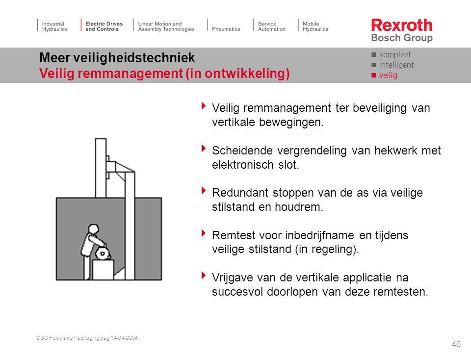 Meer veiligheidstechniek Veilig remmanagement (in ontwikkeling)