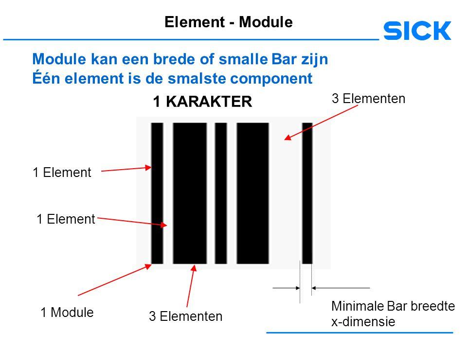 Module kan een brede of smalle Bar zijn