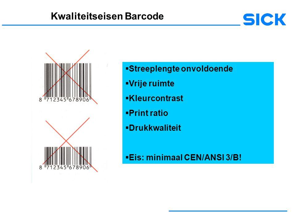 Kwaliteitseisen Barcode
