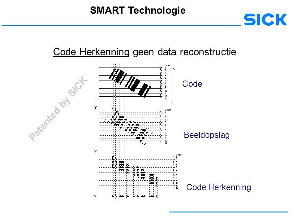 Code Herkenning geen data reconstructie