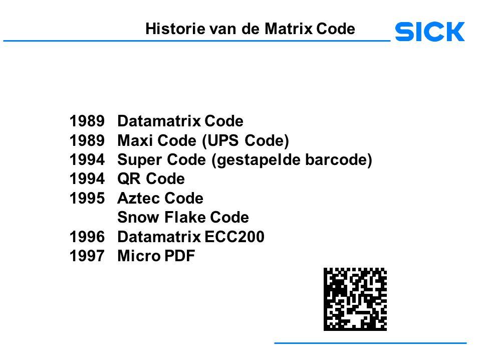 Historie van de Matrix Code