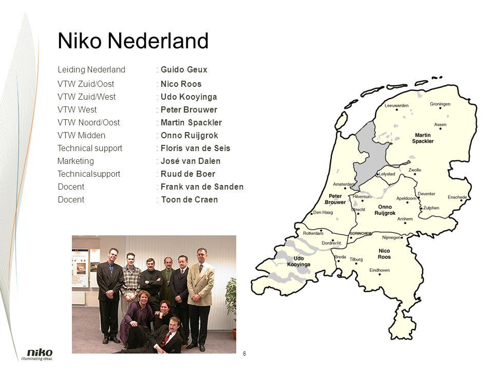 Niko Nederland Leiding Nederland : Guido Geux