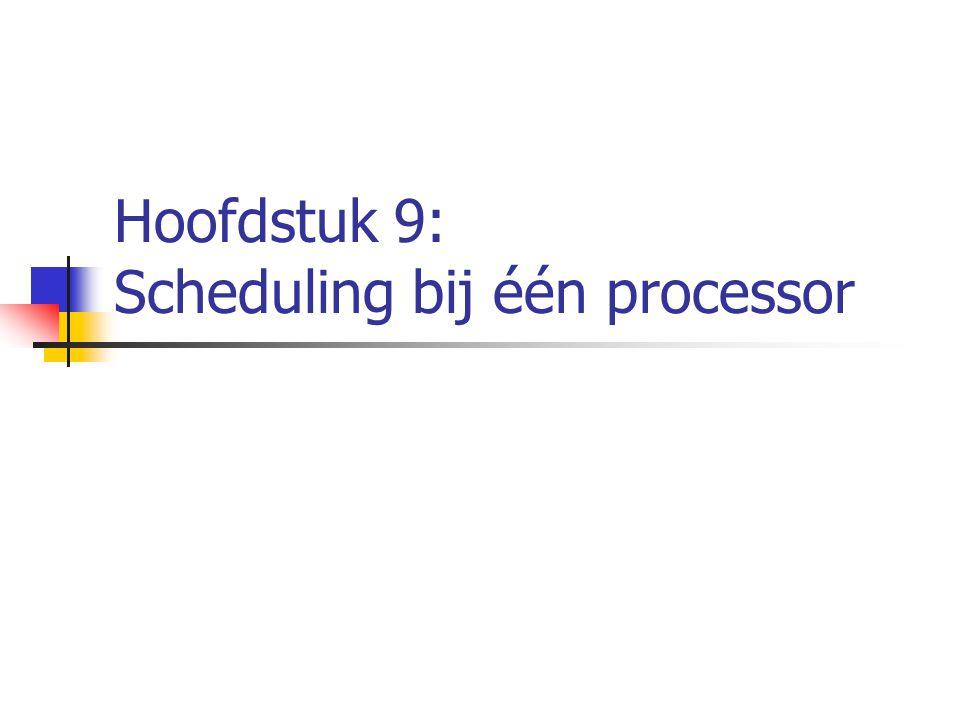 Hoofdstuk 9: Scheduling bij één processor