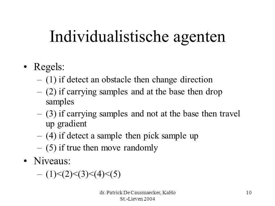 Individualistische agenten