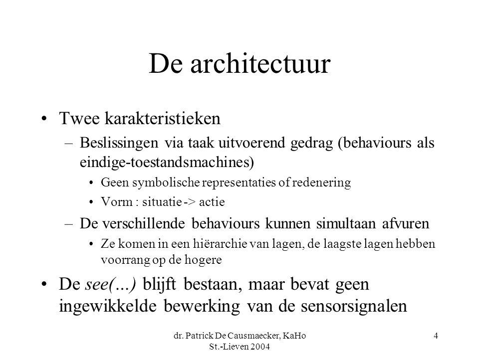 dr. Patrick De Causmaecker, KaHo St.-Lieven 2004