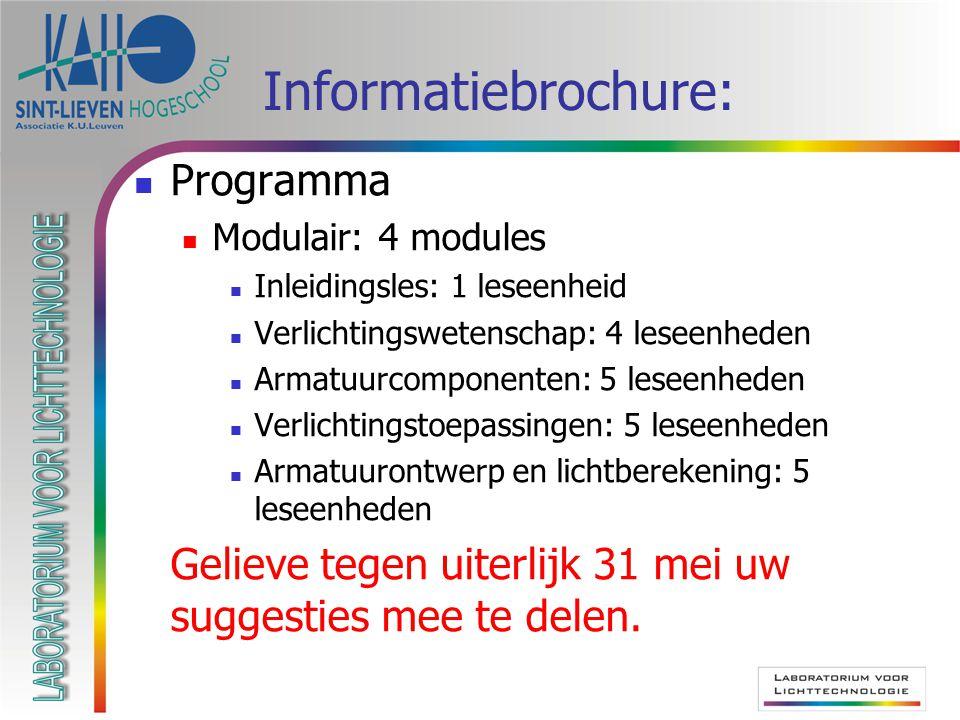 Informatiebrochure: Programma