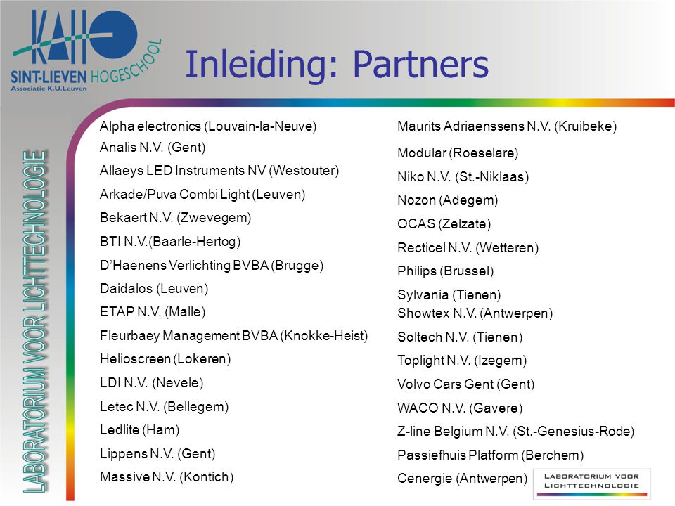 Inleiding: Partners Maurits Adriaenssens N.V. (Kruibeke)