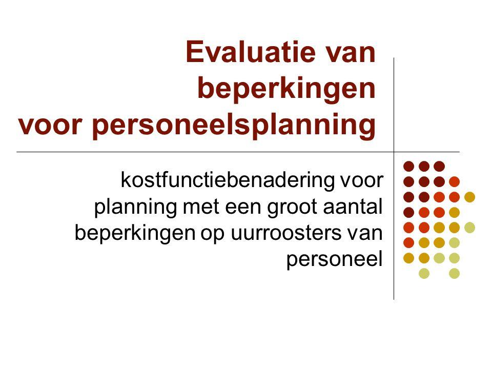 Evaluatie van beperkingen voor personeelsplanning