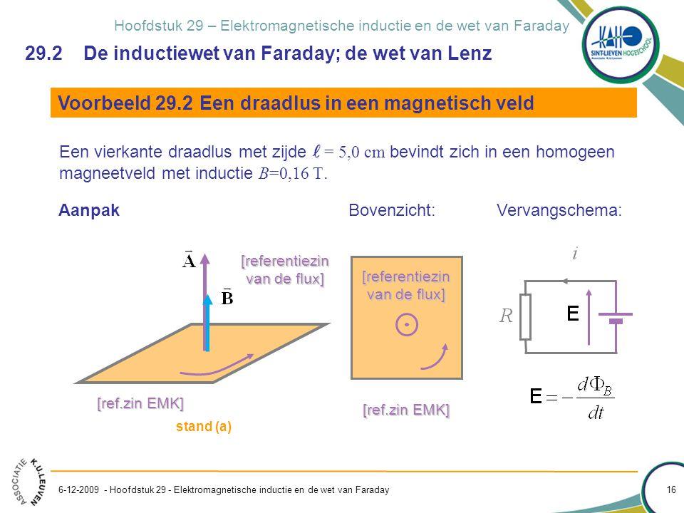 29.2 De inductiewet van Faraday; de wet van Lenz