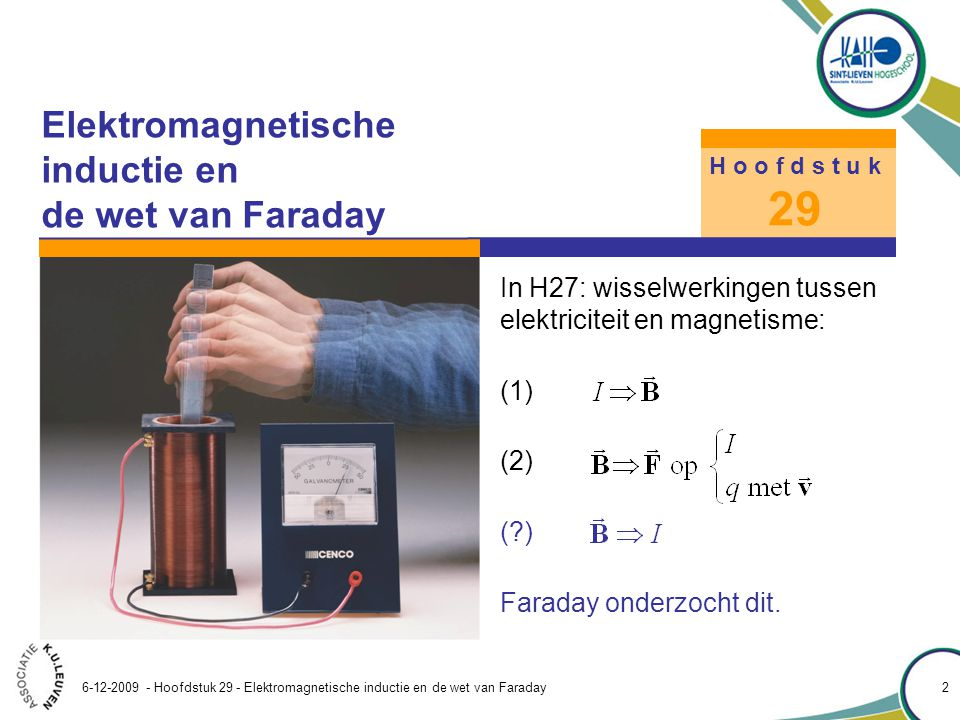Wet van faraday inductie