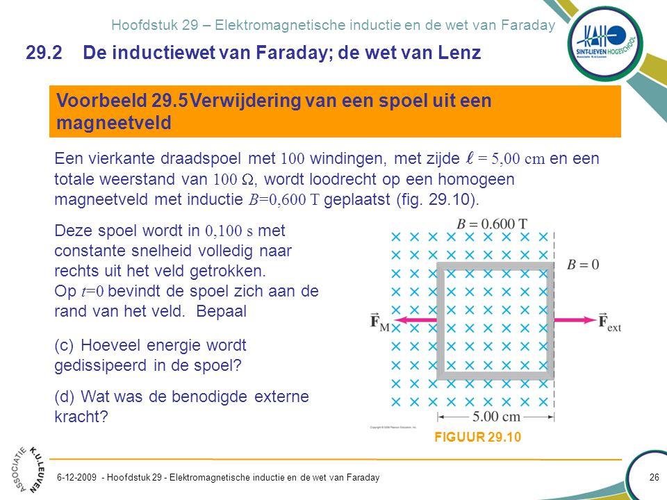 Wet van faraday inductie