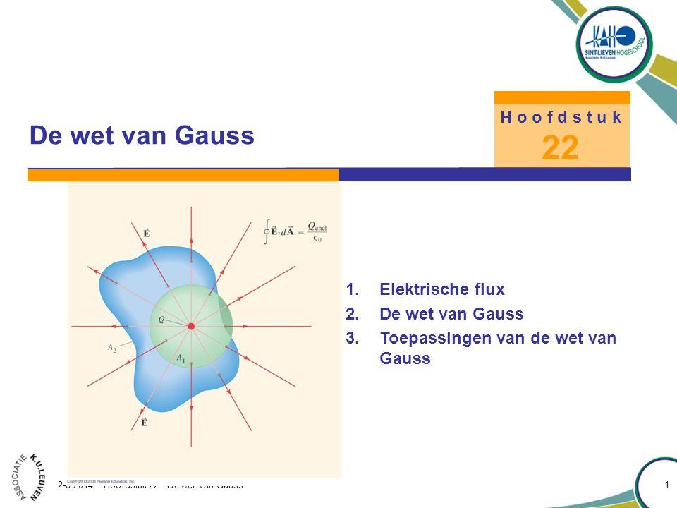 22 De wet van Gauss H o o f d s t u k Elektrische flux