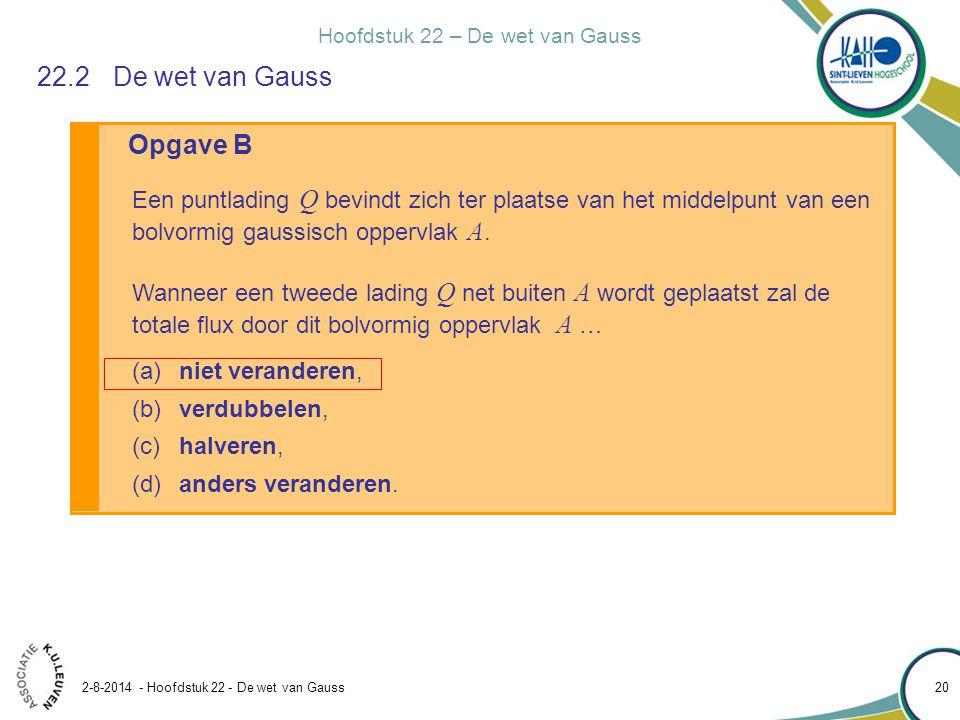 22.2 De wet van Gauss Opgave B