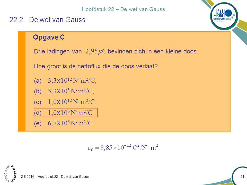 22.2 De wet van Gauss Opgave C