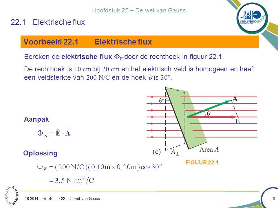 Voorbeeld 22.1 Elektrische flux