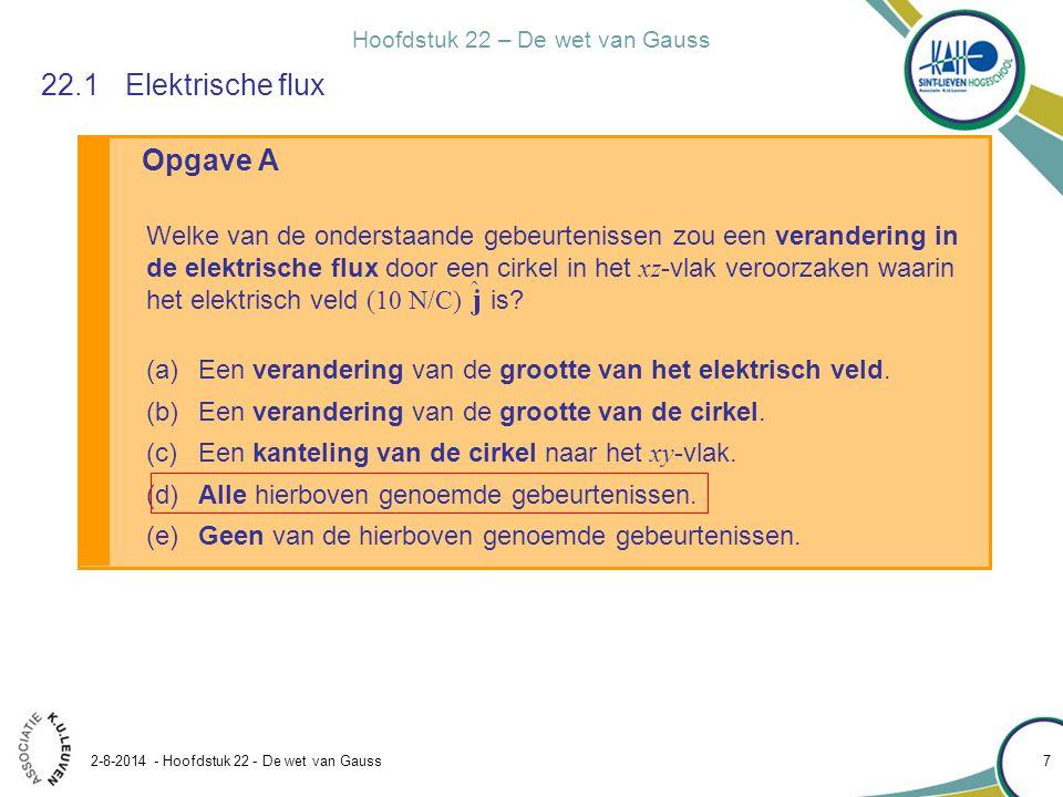 22.1 Elektrische flux Opgave A