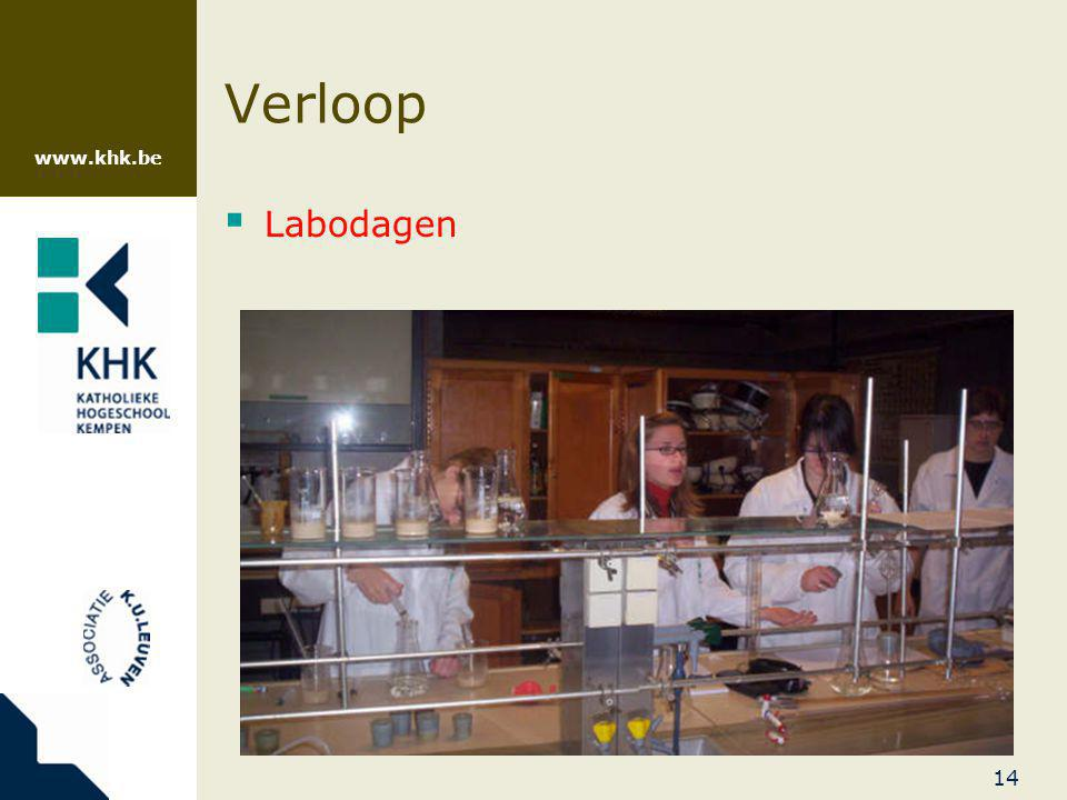 Verloop Labodagen