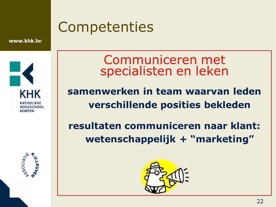 resultaten communiceren naar klant: wetenschappelijk + marketing