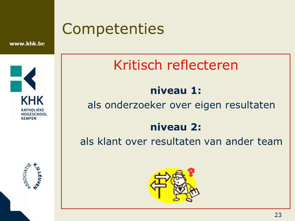 Competenties Kritisch reflecteren