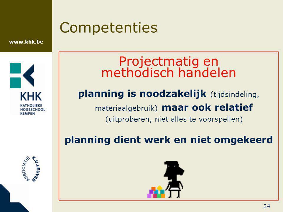 planning dient werk en niet omgekeerd