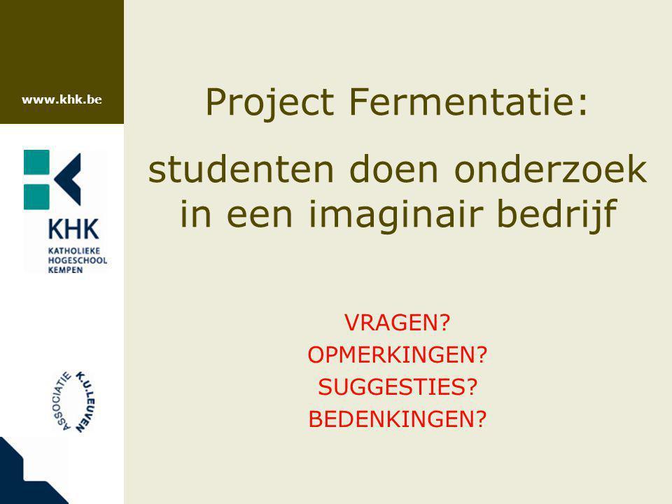 Project Fermentatie: studenten doen onderzoek in een imaginair bedrijf