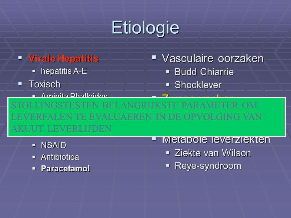 Etiologie Vasculaire oorzaken Zwangerschap Metabole leverziekten