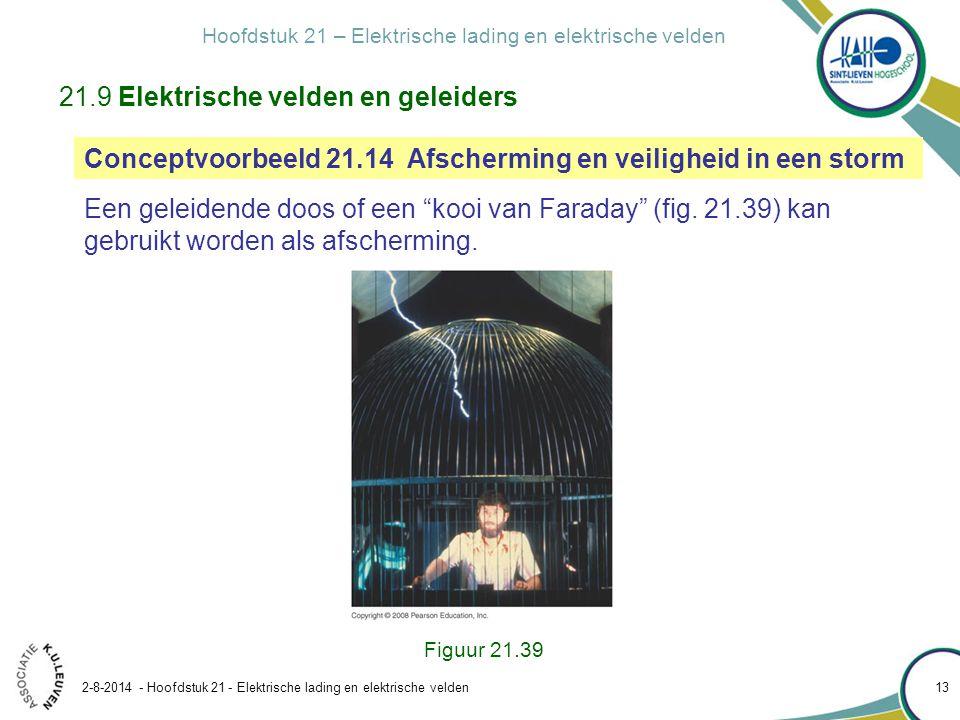 21.9 Elektrische velden en geleiders