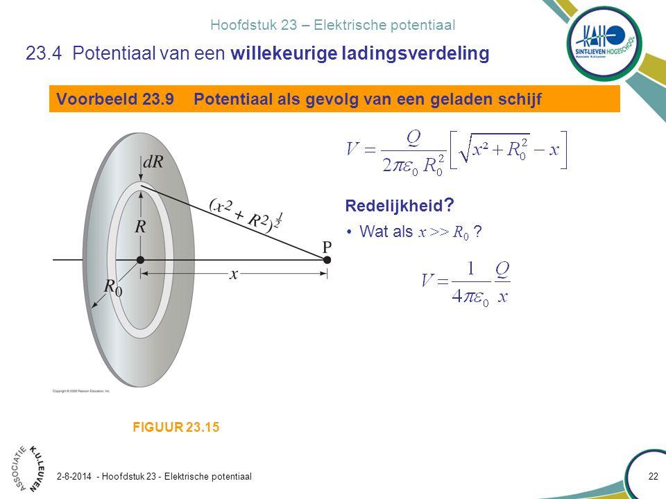 23.4 Potentiaal van een willekeurige ladingsverdeling