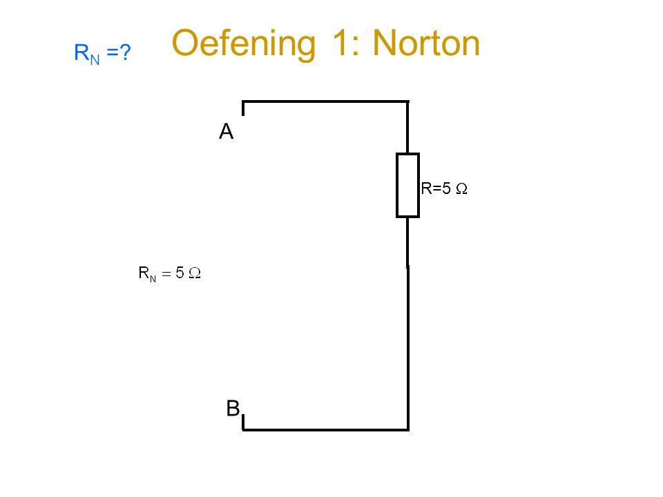 Oefening 1: Norton RN = R=5  A B