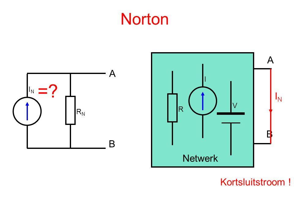 Norton R I V A B Netwerk IN RN A B = IN Kortsluitstroom !