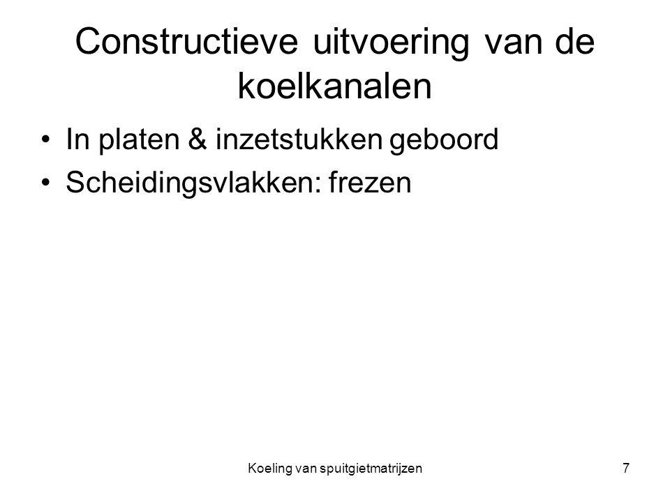 Constructieve uitvoering van de koelkanalen