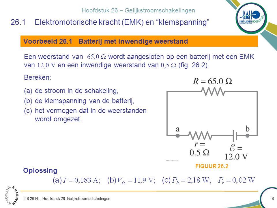 26.1 Elektromotorische kracht (EMK) en klemspanning