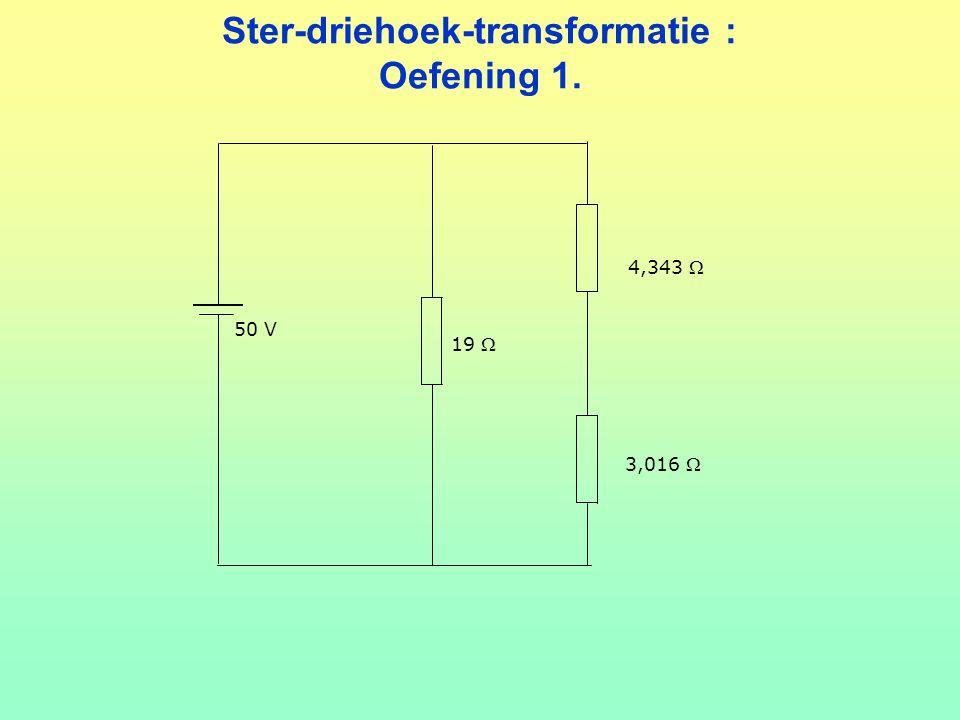 Ster-driehoek-transformatie : Oefening 1.