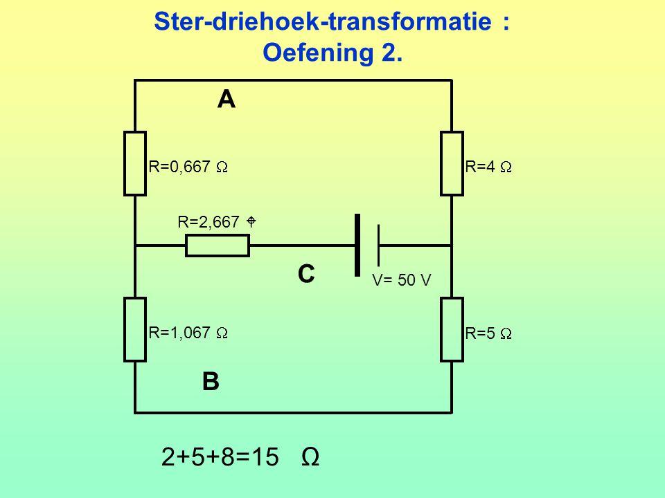 Ster-driehoek-transformatie : Oefening 2.