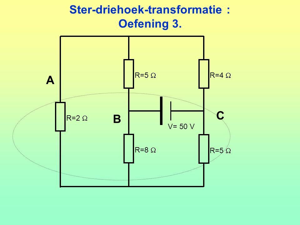 Ster-driehoek-transformatie : Oefening 3.