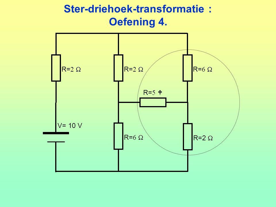 Ster-driehoek-transformatie : Oefening 4.