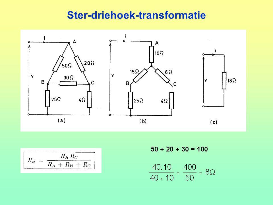 Ster-driehoek-transformatie