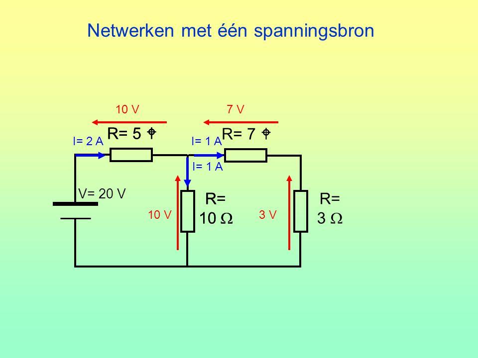 Netwerken met één spanningsbron