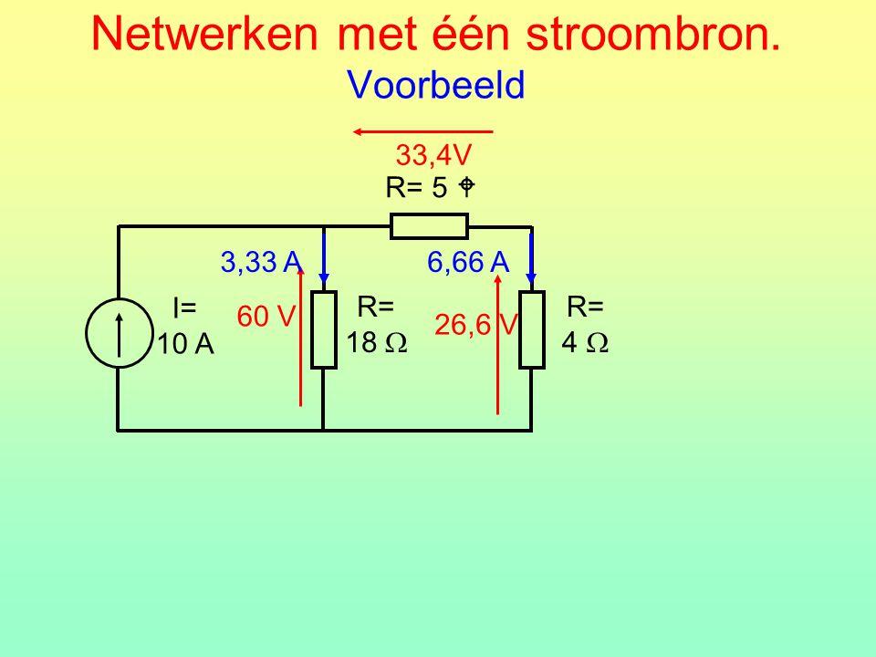 Netwerken met één stroombron. Voorbeeld