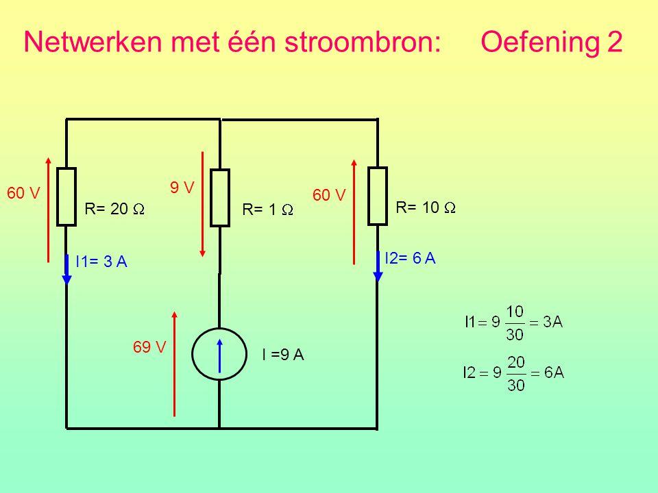Netwerken met één stroombron: Oefening 2