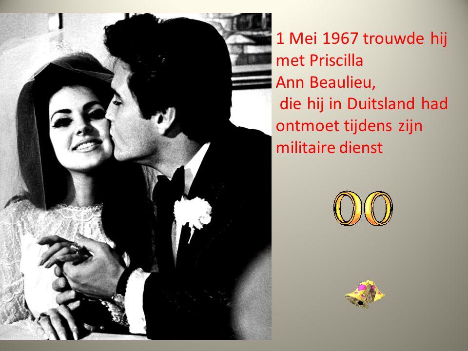 1 Mei 1967 trouwde hij met Priscilla