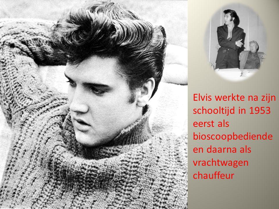 Elvis werkte na zijn schooltijd in 1953 eerst als bioscoopbediende en daarna als vrachtwagen