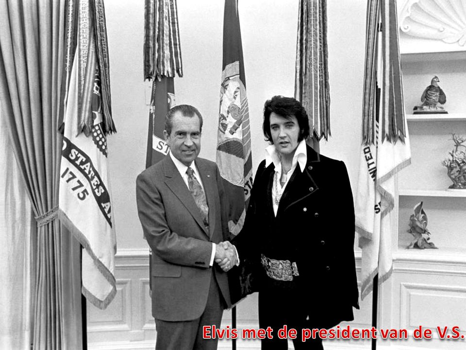 Elvis met de president van de V.S.