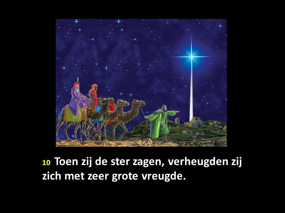 10 Toen zij de ster zagen, verheugden zij zich met zeer grote vreugde.