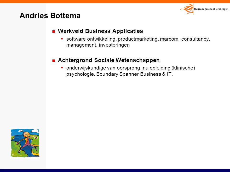 Andries Bottema Werkveld Business Applicaties