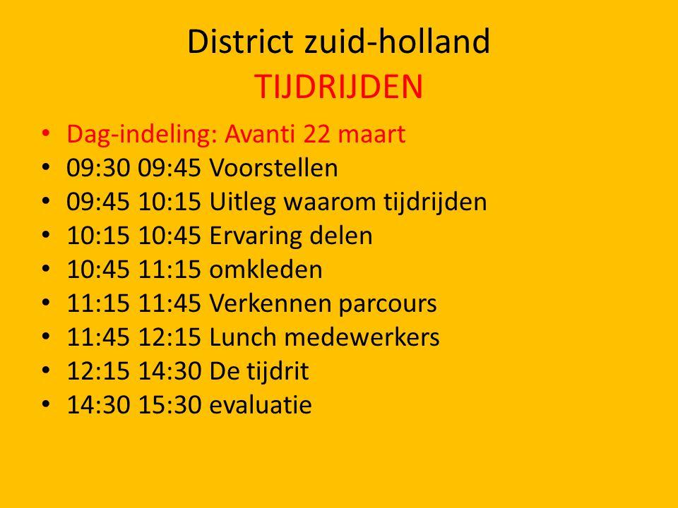 District zuid-holland TIJDRIJDEN